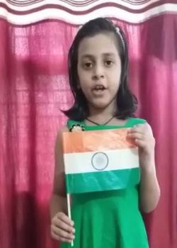 Baby Girl with Indian Flag